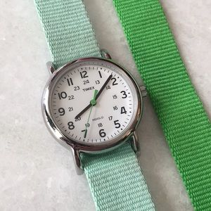 Silver Timex Watch with Three Hands